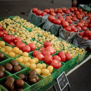 Milton Farmers Market Stand vegetables