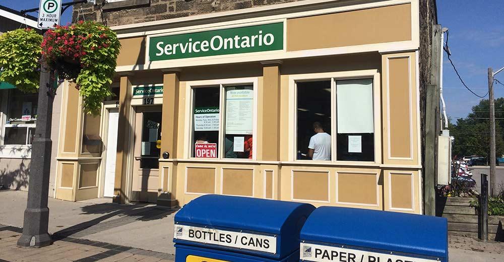 Service Ontario Downtown Milton