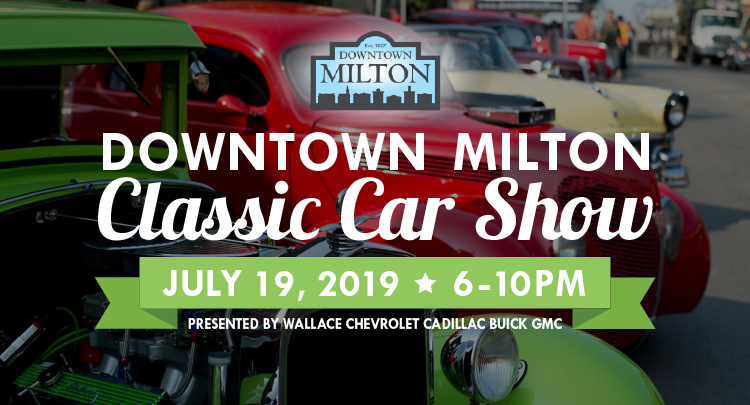 Get hit by a blast from the past at the Downtown Milton Classic Car Show!