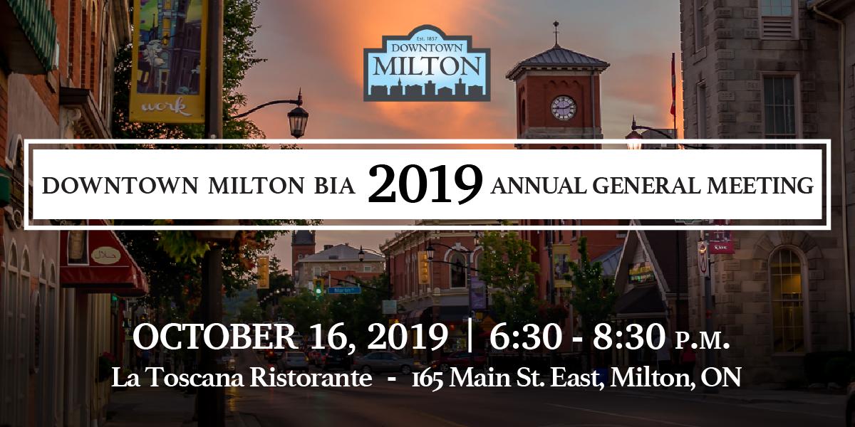 Downtown Milton BIA 2019 Annual General meeting